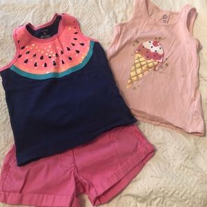Two girls size 4 tank tops